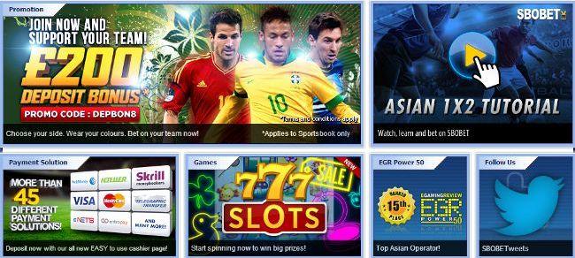 Taruhan Olahraga dan Casino Sbobet